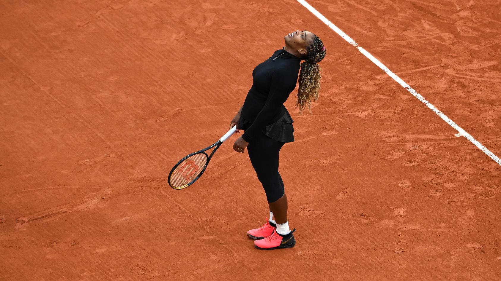 Serena Williams muss die French Open 2020 vorzeitig beenden.