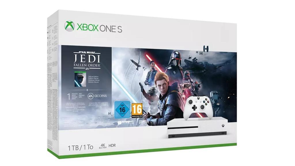 """Xbox One S und """"Star Wars Jedi: Fallen Order"""""""