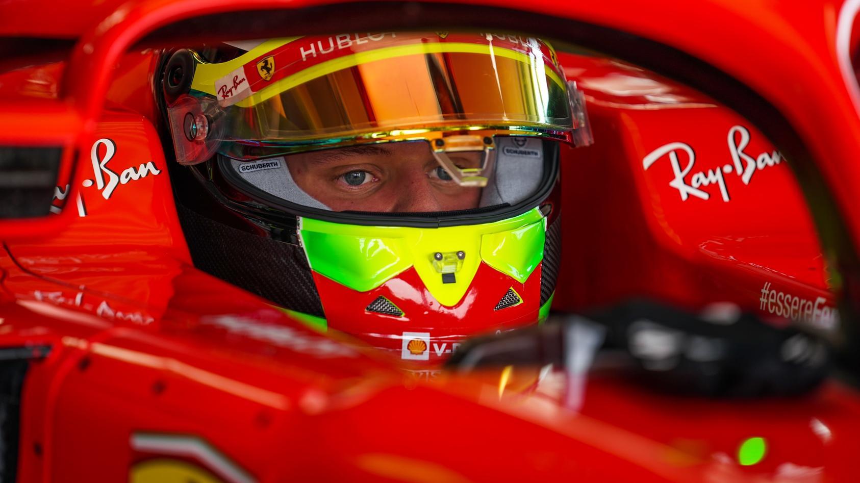 Mick Schumacher im Ferrari SF71H in Fiorano