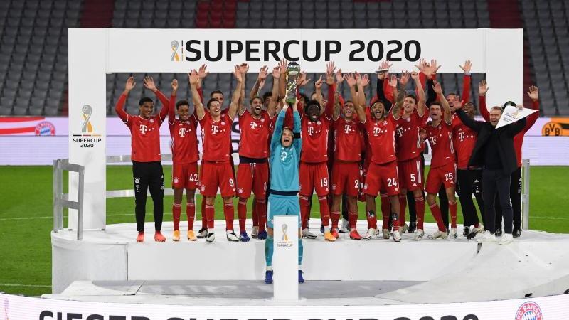 Bayern München heißt der deutsche Supercup-Sieger 2020. Foto: Sven Hoppe/dpa-Pool/dpa
