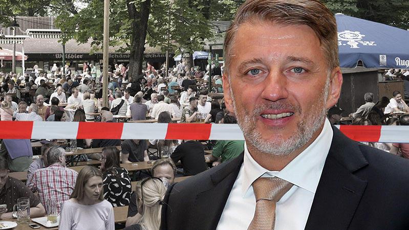Christian Vogler vom Augustiner-Keller in München hat  als Gastwirt die erste Klage gegen eine Versicherung gewonnen,