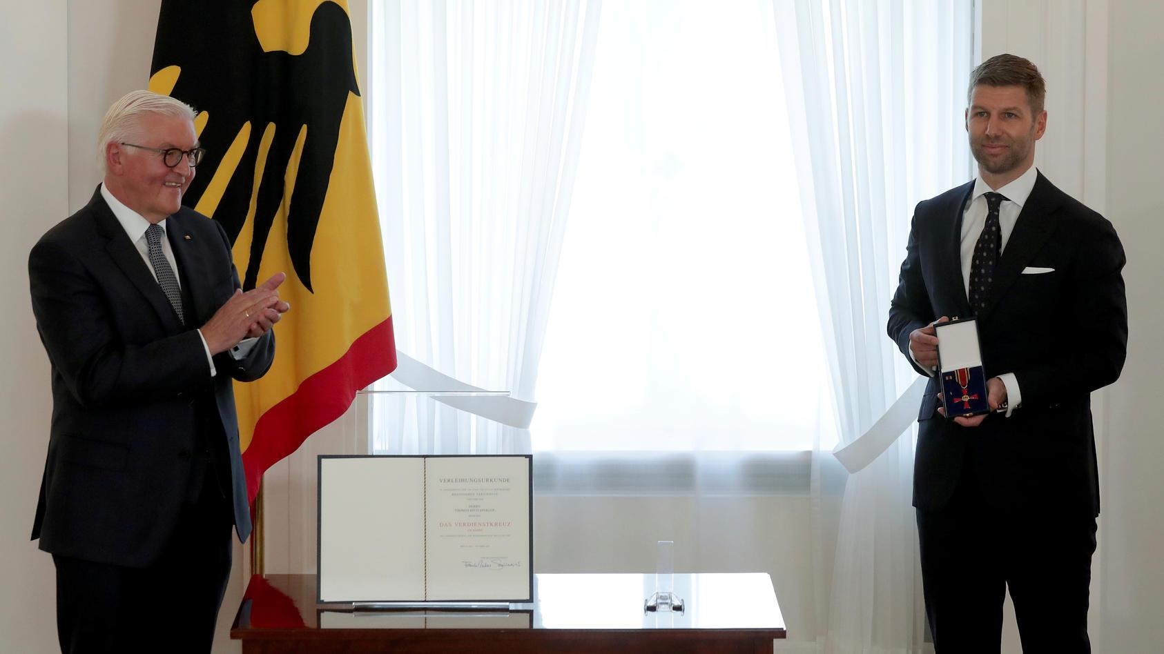 Germany's Steinmeier awards order of merit