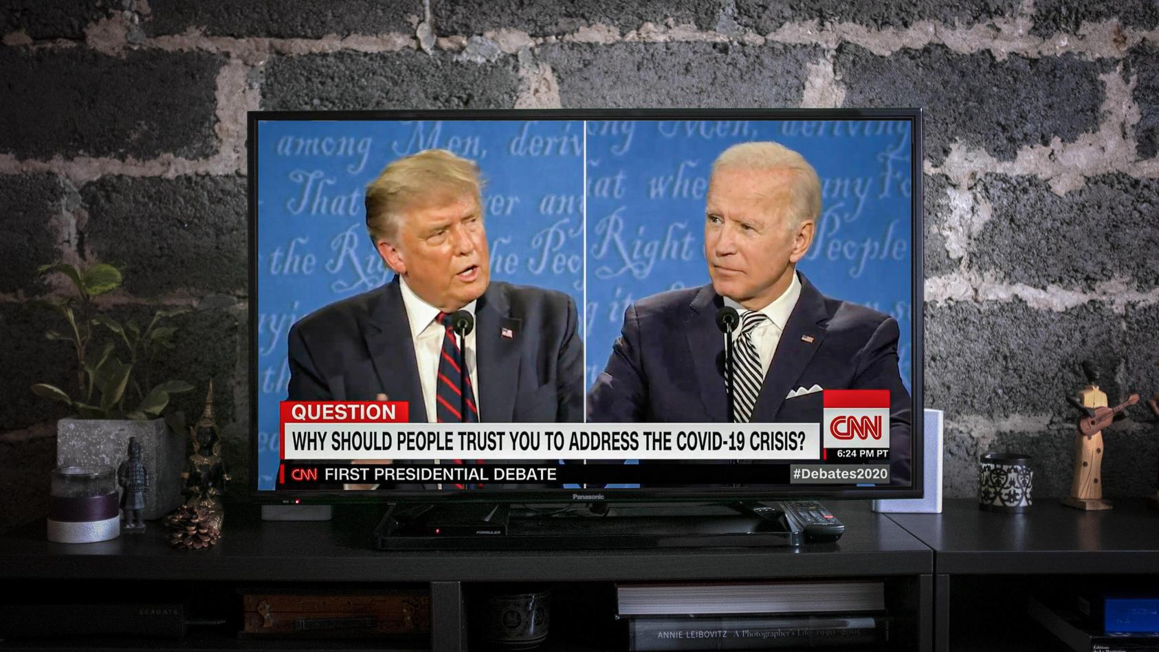 TRUMP VS BIDEN - FIRST PRESIDENTIAL DEBAT Donald Trump and Joe Biden in first presidential debate and present their pla