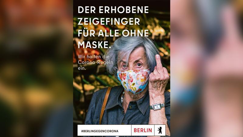 Mit diesem Bild wirbt der Berliner Senat für die Einhaltung der Corona-Regeln.