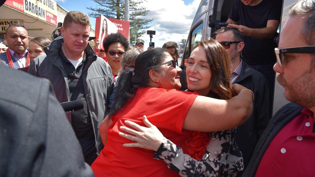 Premierministerin Jacinda Ardern im Wahlkampf