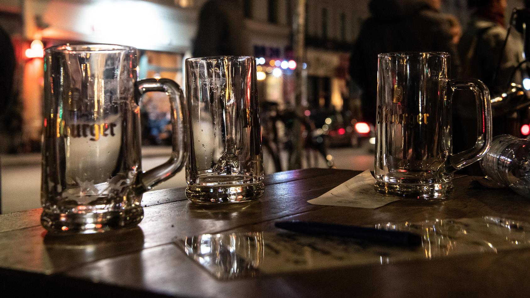 In Berlin wird ab 23 Uhr kein Alkohol mehr ausgeschenkt.