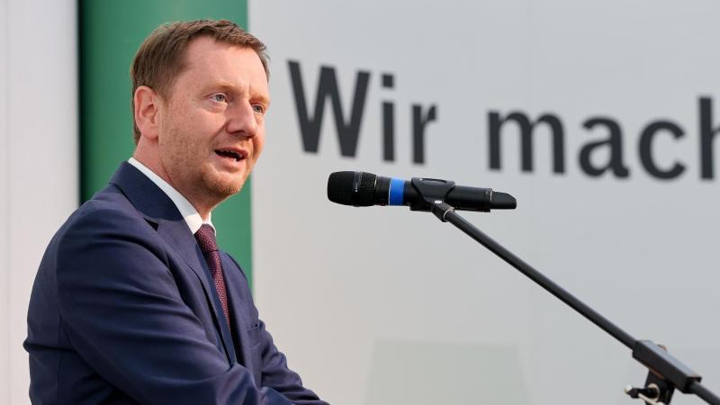 Michael Kretschmer (CDU), Ministerpräsident von Sachsen, spricht. Foto: Jan Woitas/dpa-Zentralbild/dpa