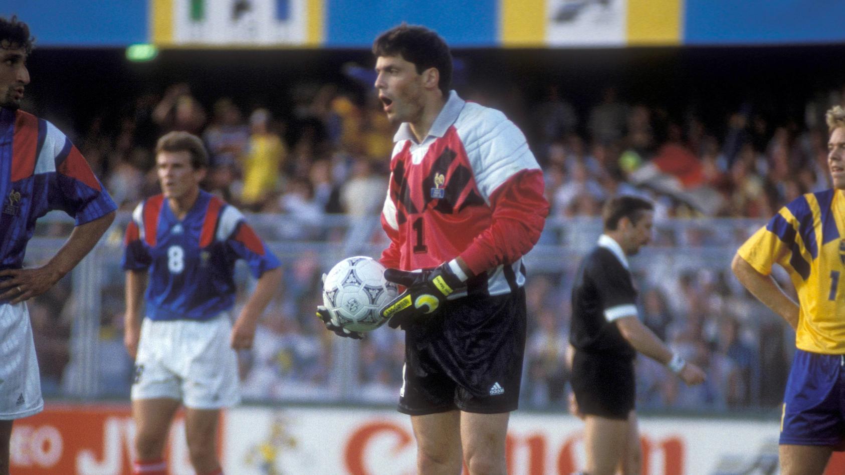 Bruno Martini hütete bei der EM 1992 in Schweden Frankreichs Tor