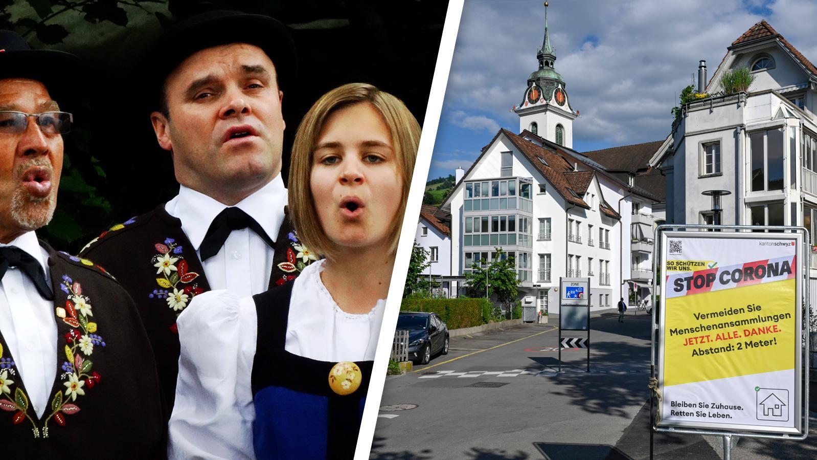 Nach einem Jodelkonzert ist das Kanton Schwyz nun Corona-Hotspot mit neuen Einschränkungen.