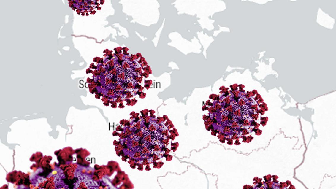 Coronavirus hat Deutschland im Griff, Symbolbild, Deutschland corona virus in Germany, symbol picture, Germany BLWS6133