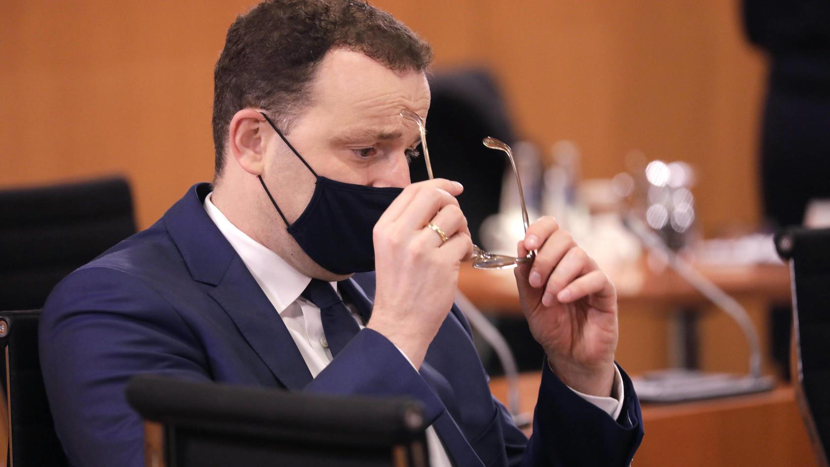 Jens Spahn, Bundesminister fuer Gesundheit, CDU, Bundeskabinett, DEU, Berlin, 21.10.2020 *** Jens Spahn, Federal Ministe