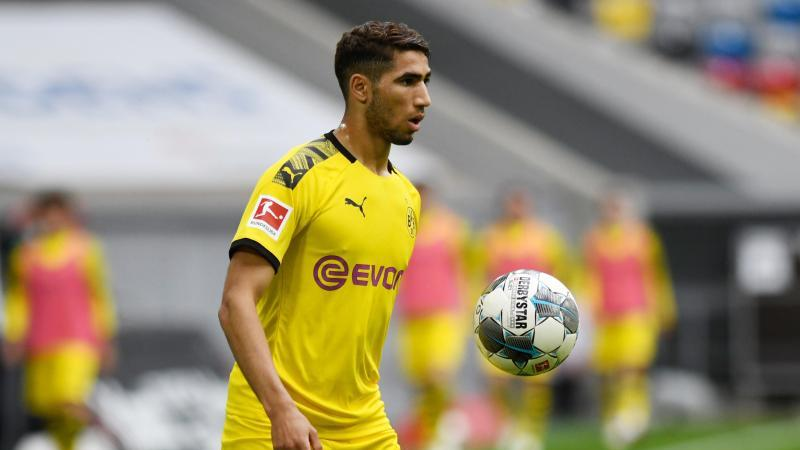 Achraf Hakimi in Aktion, hier noch für Dortmund. Foto: Bernd Thissen/dpa/Archivbild