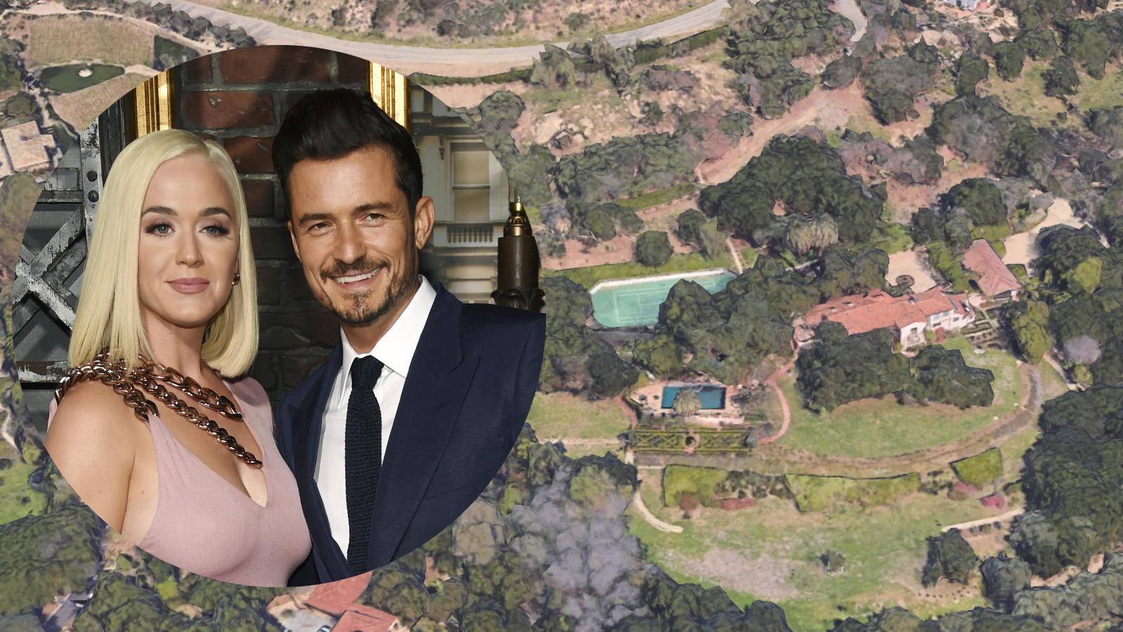 Katy Perry und Orlando Bloom mit ihrem neuen Haus in Montecito