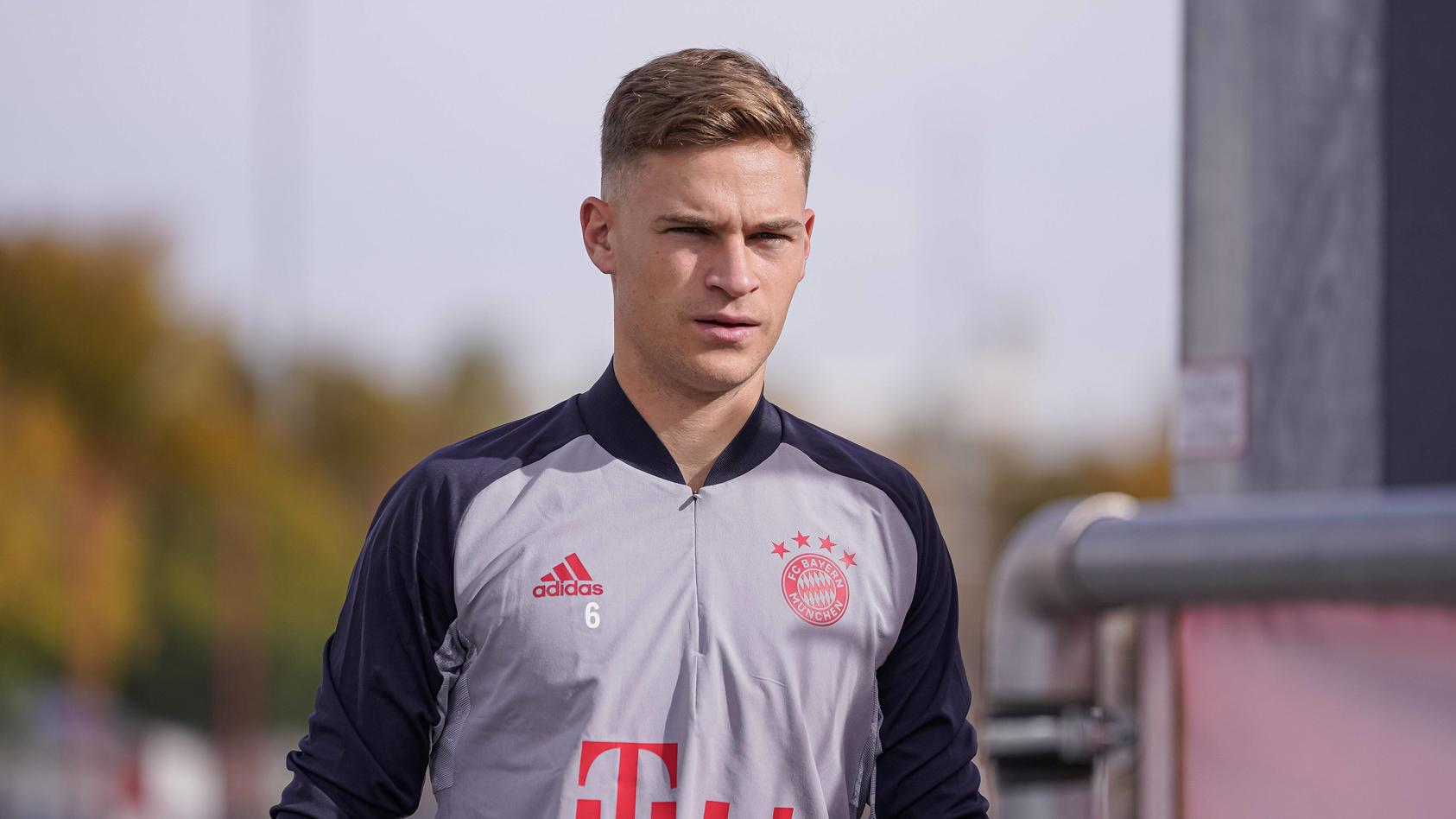 Joshua Kimmich im Trainingsdress des FC Bayern München.
