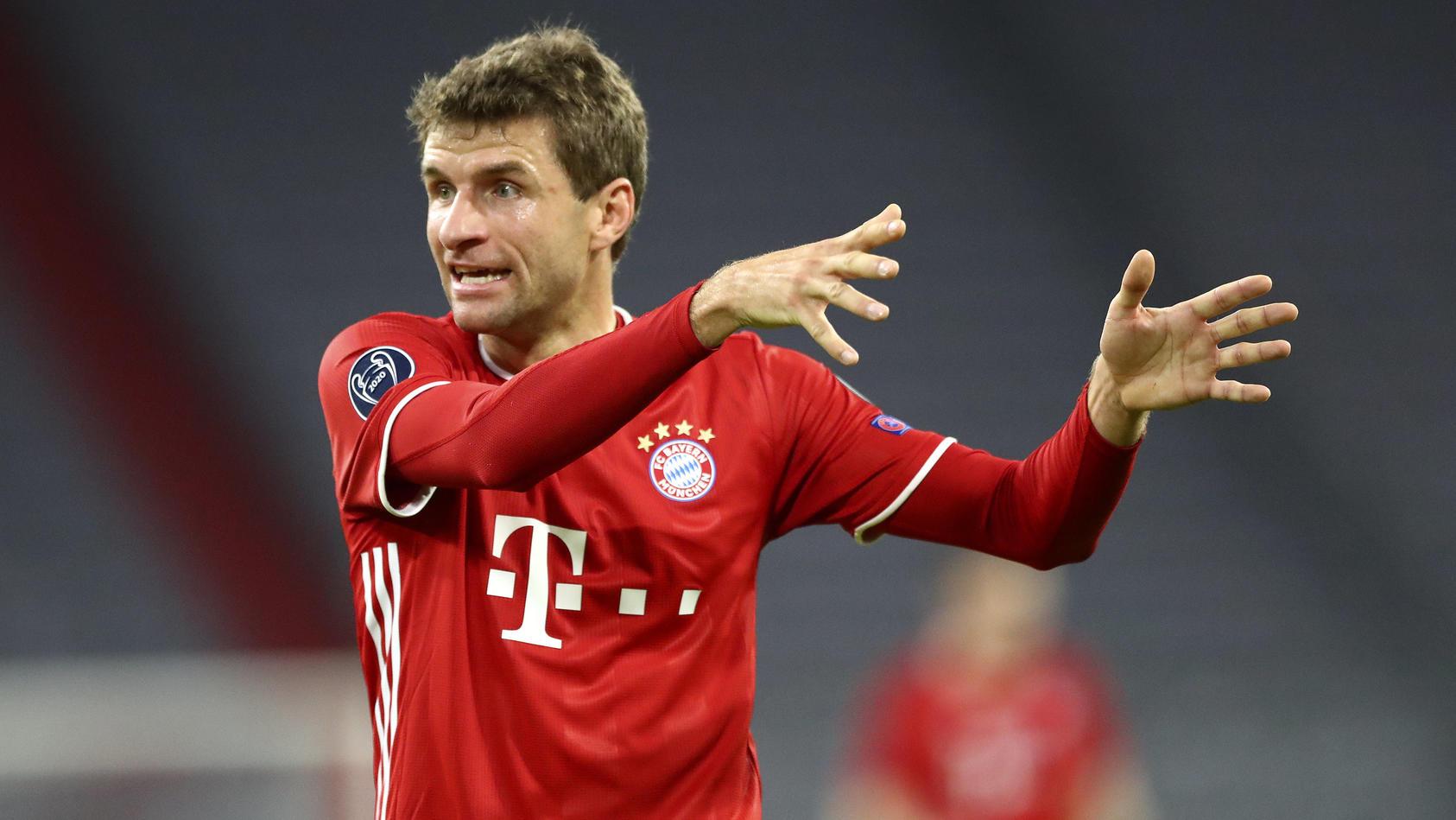 Thomas Müller im Spiel gegen Atlético Madrid.