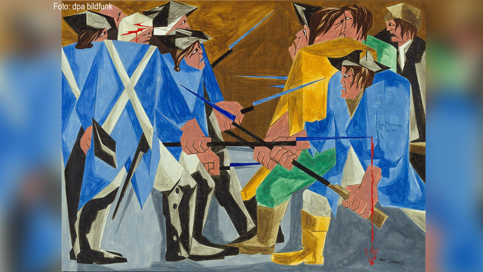 Eins von 30 Gemälden aus der Serie «Struggle: From the History of the American People» des US-Künstlers Jacob Lawrence (1917-2000) Foto: Anna-Marie Kellen/acob und Gwendolyn Knight Lawrence Foundation, Seattle/Artists Rights Society (ARS), New York/dpa