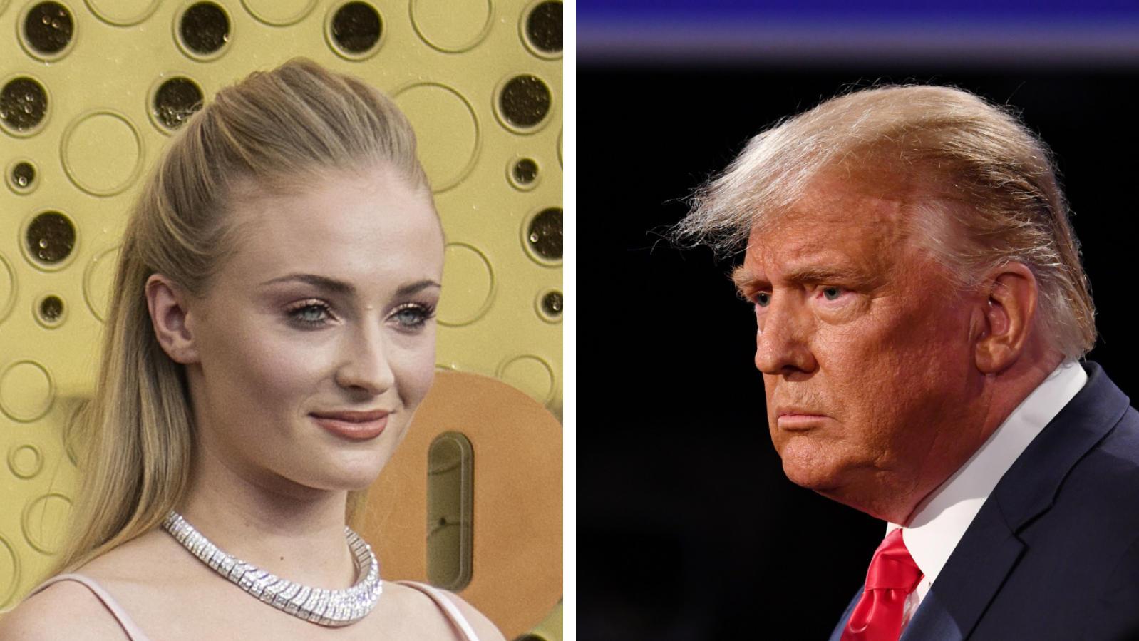 Sophie Turner holt gegen Donald Trump aus.