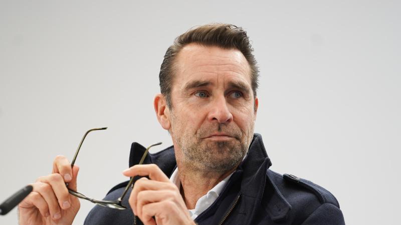 Hertha-Manager Preetz. Foto: Jörg Carstensen/dpa