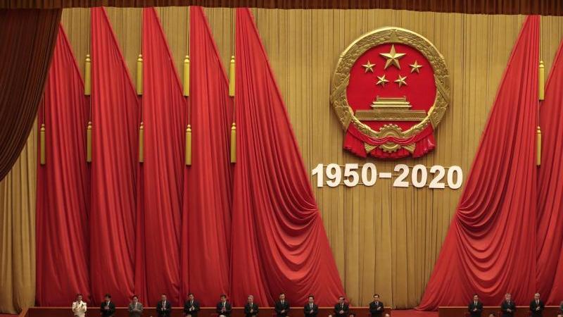 Die Große Halle des Volkes in Peking während einer Veranstaltung in der vergangenenWoche. Foto: Andy Wong/AP/dpa