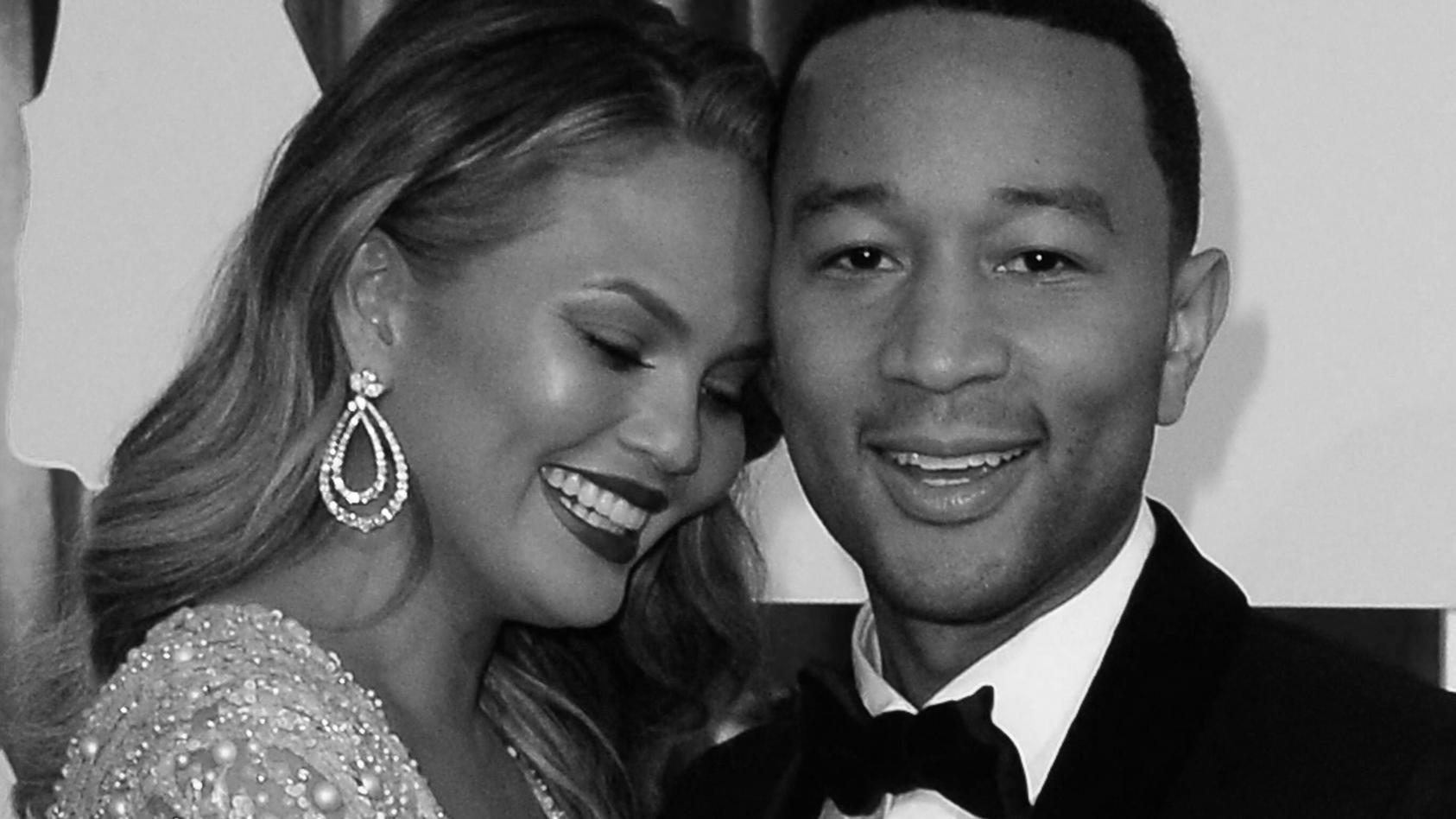 Model Chrissy Teigen und Ehemann John Legend
