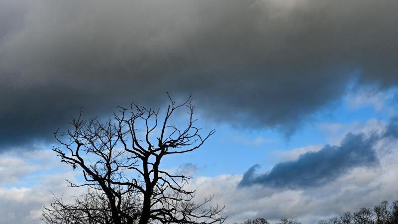 Dunkle Wolken ziehen über eine Landschaft. Foto: Patrick Pleul/dpa-Zentralbild/ZB/Symbolbild