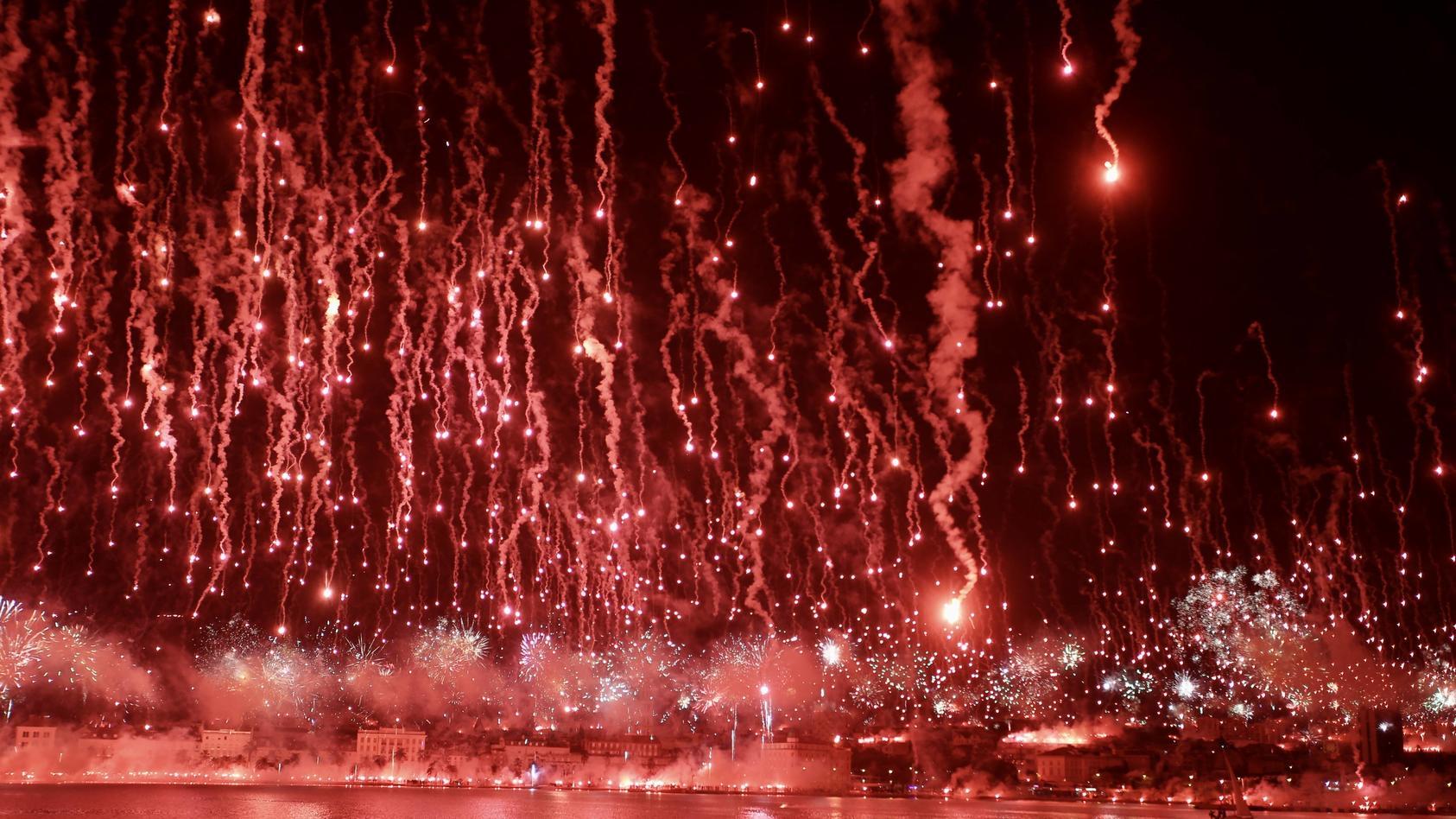 Feuerwerk in Split