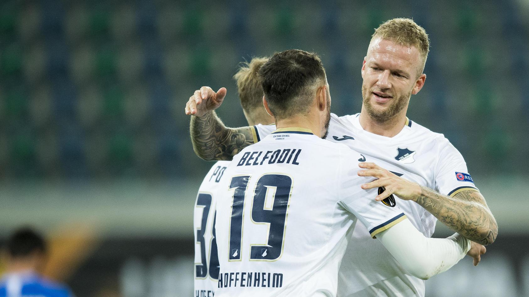 Hoffenheim siegt gegen KAA Gent mit 3:0.