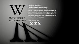 Protest gegen US-Gesetz: Englischsprachige Wikipedia geht einen Tag offline.