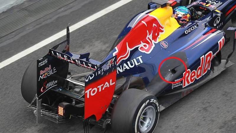 Die Auspuffvariante von Mark Webber scheint besser zum Red-Bull-Boliden zu passen