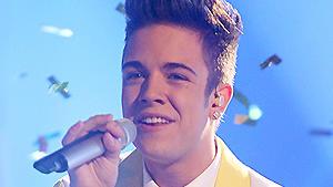 DSDS-Kandidat Luca Hänni wird zum Superstar 2012 gekürt.