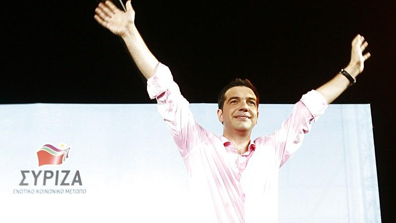 Der Führer der griechischen Linken, Tsipras. Wird er Europas 'Ernstfall'?