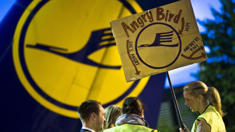 Erneute Streiks bei den Flugbegleitern der Lufthansa.