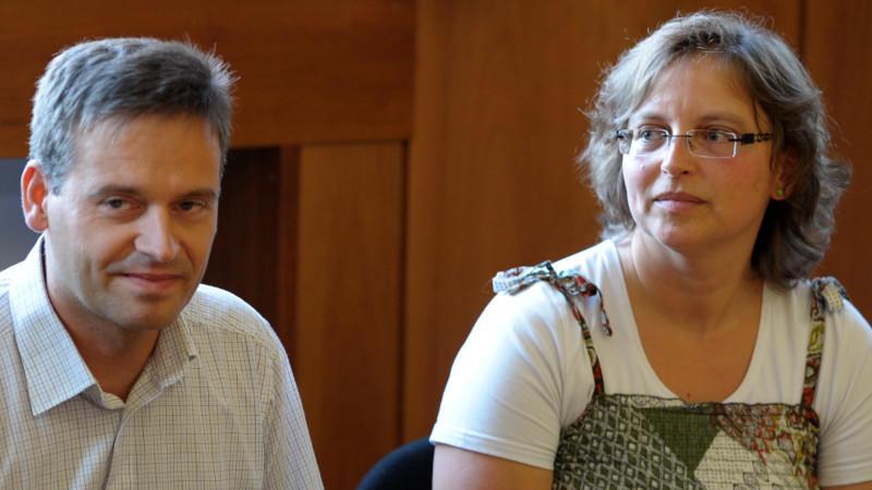 Reinhard und Sandra Schlitter beim Prozess gegen den Mörder ihres Sohnes Mirco, Olaf H..