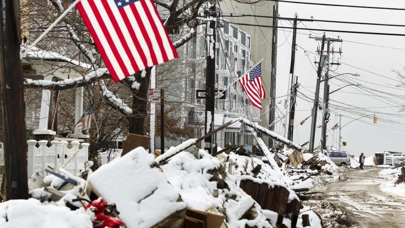 Sandy, USA, Schneesturm, New York