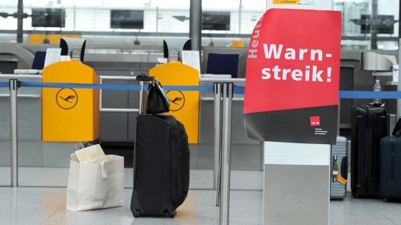 Lufthansa, Streik, Warnstreik
