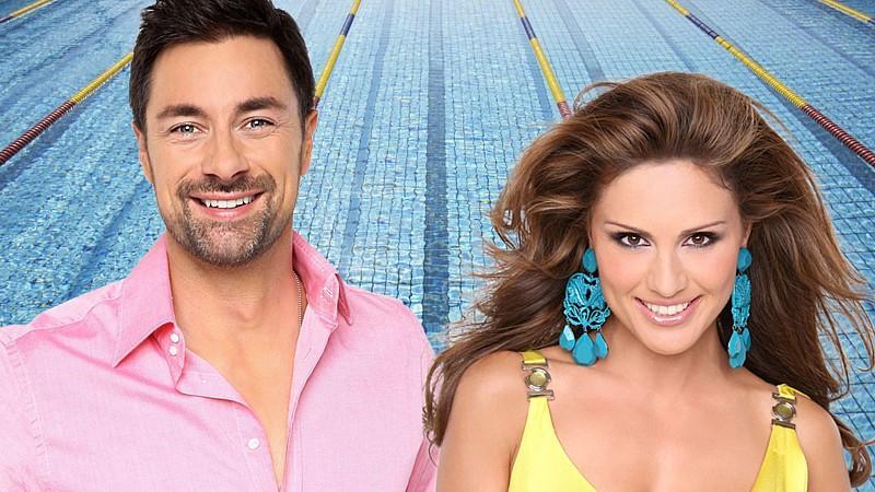 """Die """"Pool Champions""""-Moderatoren Marco Schreyl und Nazan Eckes"""