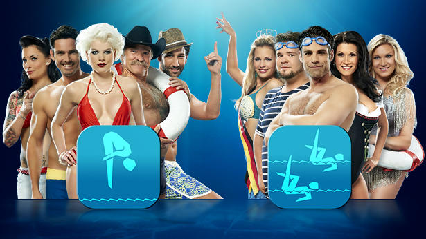 """Das zeigen die Promis in der ersten Show von """"Die Pool Champions"""" 2013."""