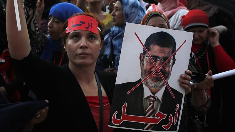 Hunderttausende Ägypter protestieren gegen ihren Präsident Mohammed Mursi.