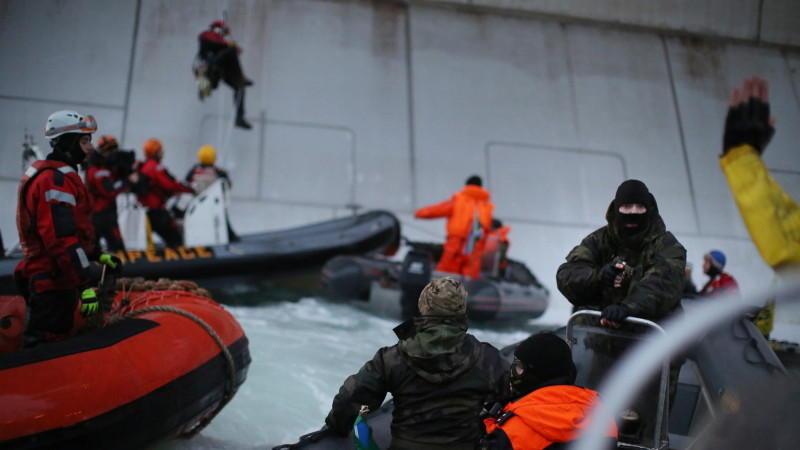 Greenpeace Arktis Schiff Erstürmung