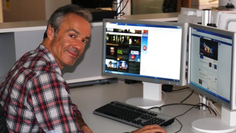 Hannes Jaenicke war zu Besuch in der RTL-Online-Redaktion