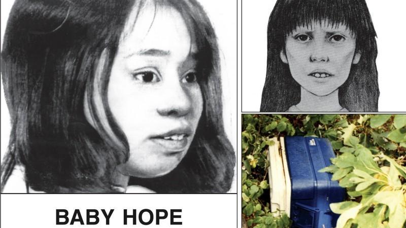 Mit dien Bildern wurde versucht die Identität von 'Baby Hope' zu ermitteln.
