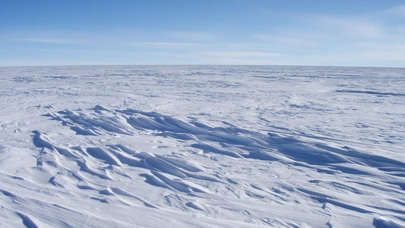 Ewiges Eis im Osten der Antarktis.