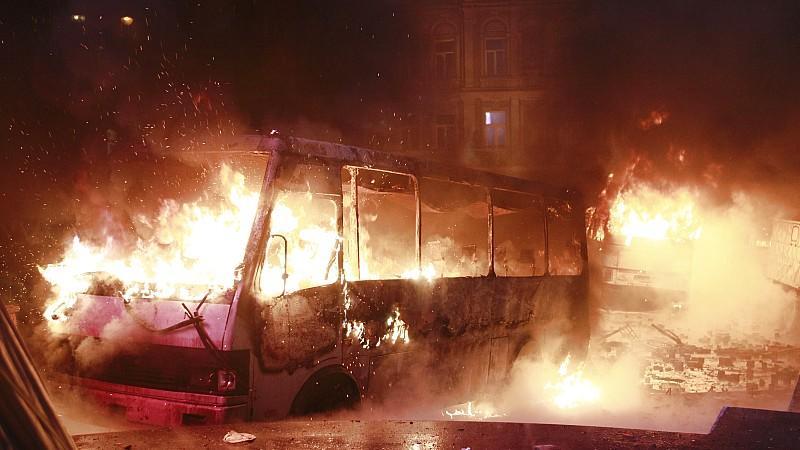 Eskalation der Gewalt am Wochenende in Kiew.