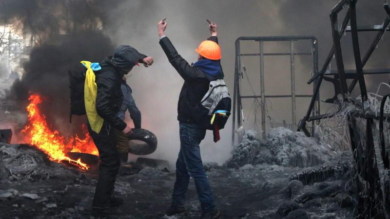 Protest in Kiew dauert an