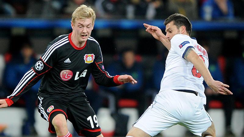 Mit 17 Jahren schon das Champions-League-Debüt: Julian Brandt im Spiel gegen Paris St. Germain.