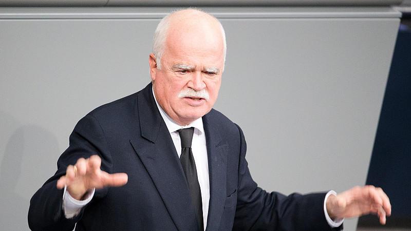 Seltener Anblick: Der CSU-Politiker Peter Gauweiler ist nicht oft im Bundestag