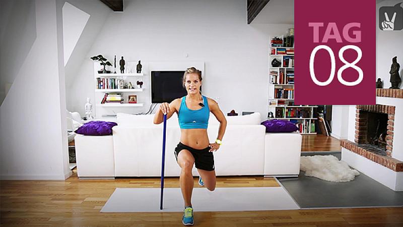 Übungen zum Abnehmen, Armen, Beinen und Bauch