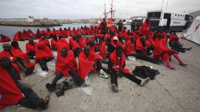 Immer mehr afrikanische Bootsflüchtlinge gelangen über die Meerenge von Gibraltar nach Spanien.