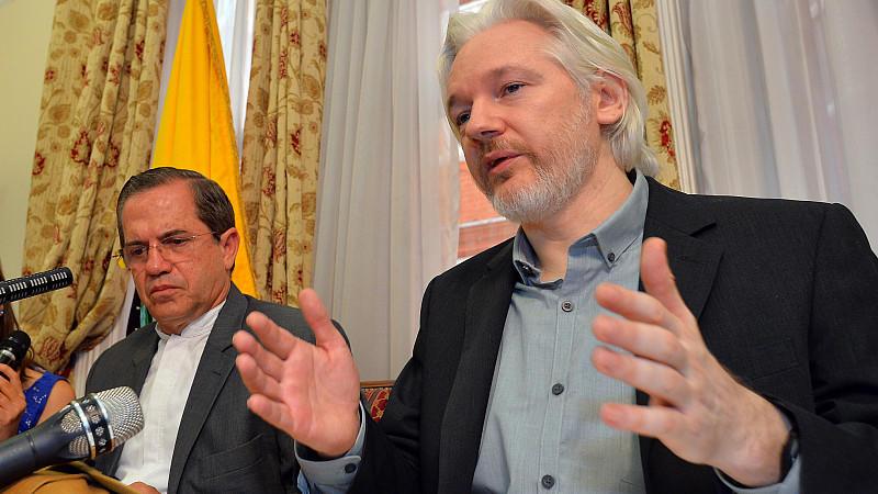Wikileaks-Gründer Julian Assange in London.