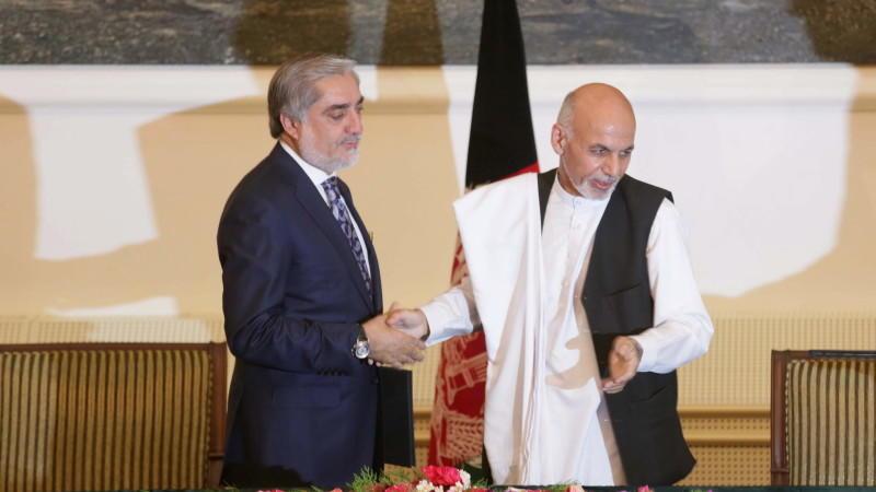 Aschraf Ghani (links) und Abdullah Abdullah
